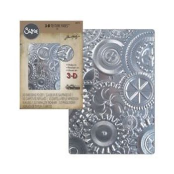 Sizzix - 3D Embossing folder - Gears (mechanics)