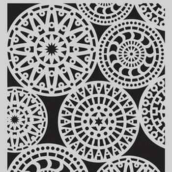 CraftEmotions - Mask stencil - Fantasy cirkelpatroon