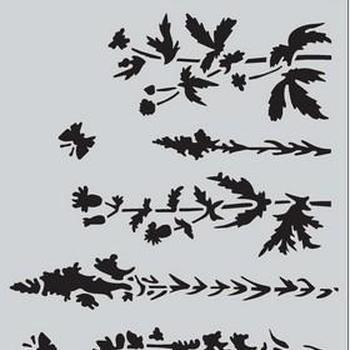 CraftEmotions - Mask stencil - Life and garden kruidenveld