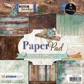 Studiolight Paper pad (104) - Denim groen