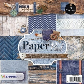 Studiolight Paper pad (103) - Denim blauw