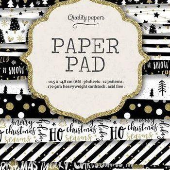 Studiolight Paper pad (119) - Kerst - Zwart/wit