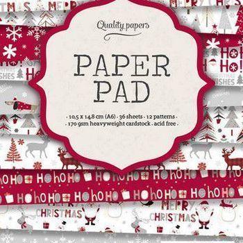 Studiolight Paper pad (120) - Kerst - Rood