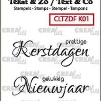 Crealies Clearstamp Tekst & zo - Kerst nr1