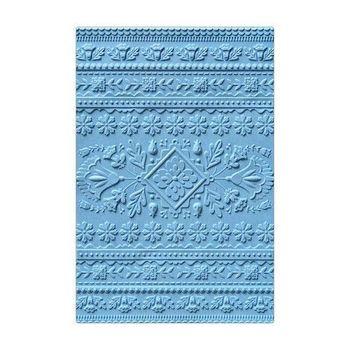 Sizzix - 3D Textured Impressions Embossing folder - Folk art pattern