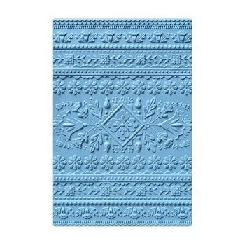Sizzix - 3D Textured Impressions Embossing folder - Folk art pattern