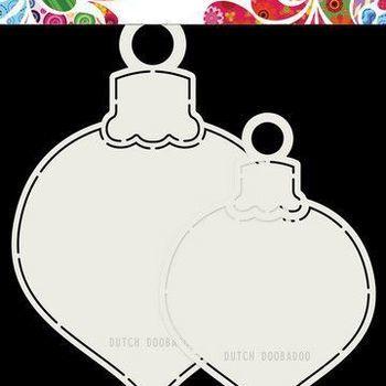 Card Art - 2x kerstballen