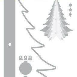 CraftEmotions Die - Kerstboom decoratie 3D