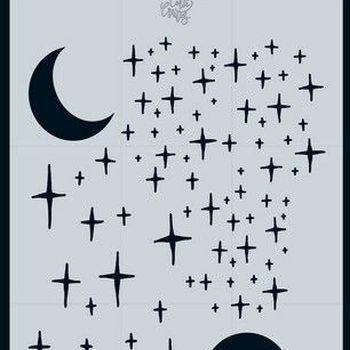 CraftEmotions - Mask stencil - Sterren en maan