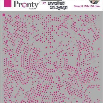 Pronty Mask stencil - Dots radius
