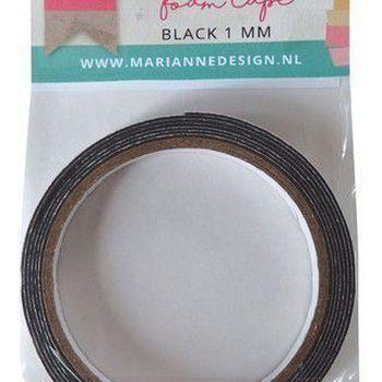 3D Foamtape 1mm zwart - rol