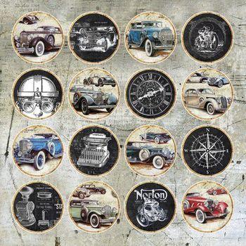 Craft & You - Vintage Man (cirkels)