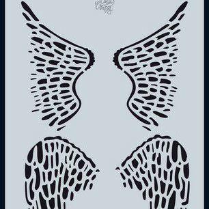 CraftEmotions - Mask stencil - Angel & Bear - Vleugels