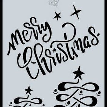 CraftEmotions - Mask stencil - Merry Christmas