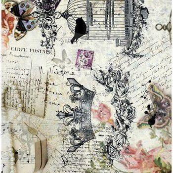 Cadence - Rijstpapier - Kroontje vogelkooi