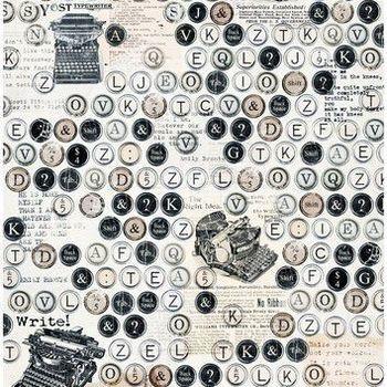 Cadence - Rijstpapier - Typemachine letters