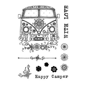 Clear stamp - Camper
