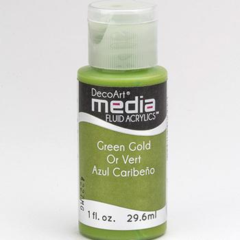 Mixed Media Acryl - Green Gold (14)