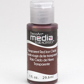 Mixed Media Acryl - Transparent Red Iron Oxide (41)