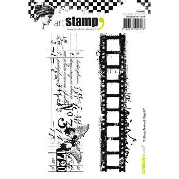 Carabelle - Cling stamp - Collage texte et negatif