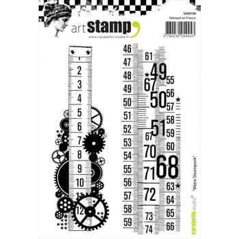 Carabelle - Cling stamp - Metre steampunk