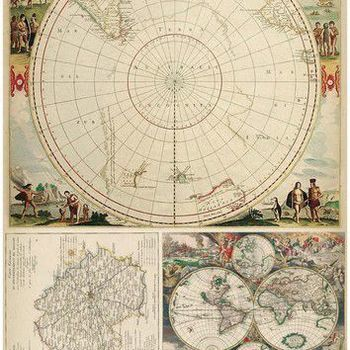 Cadence - Rijstpapier - Wereldkaart