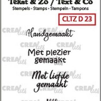 Crealies Clearstamp Tekst & zo - Divers nr 23