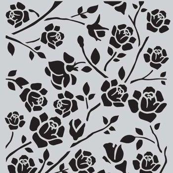 CraftEmotions - Mask stencil - Botanical rozen