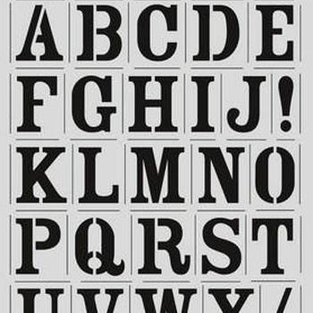 CraftEmotions - Mask stencil - Alfabet vintage