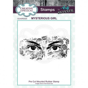 Rubber stamp - Mysterious girl