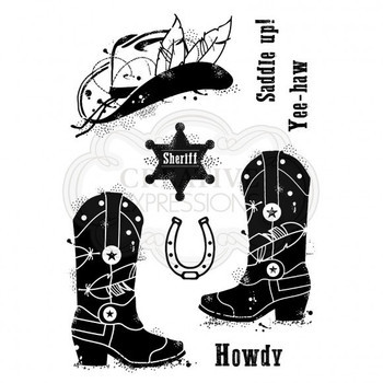 Clear stamp set - Howdy cowboy