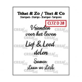 Crealies Clearstamp Tekst & zo - Vrienden nr 28