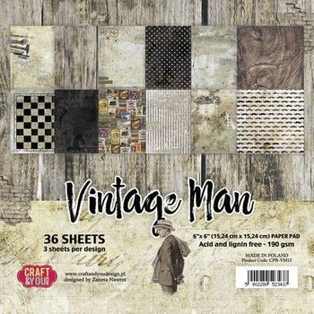 Craft & You - Vintage Man - Paper pad small