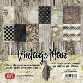 Craft & You - Vintage Man - Paper set big