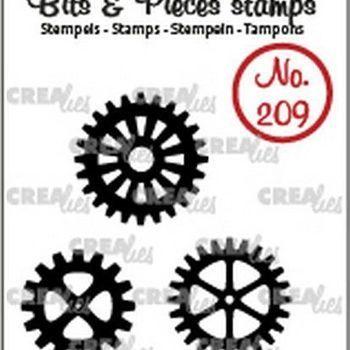 Crealies Clearstamp Bits & Pieces (209) - tandwielen dicht