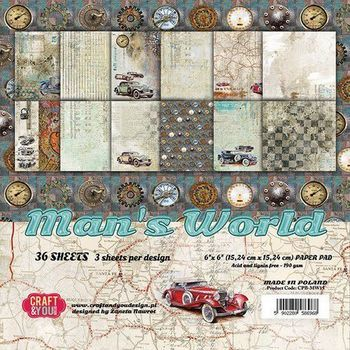 Craft & You - Man's World - Paper pad small