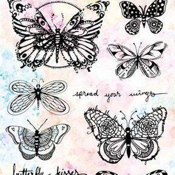 StudioLight Art by Marlene - stamp 5.0 nr 49 vlinders