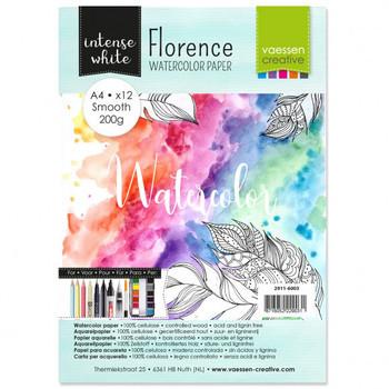 Aquarelpapier Florence - Smooth white A4 (200)