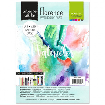 Aquarelpapier Florence - Texture intense white A4 (300)