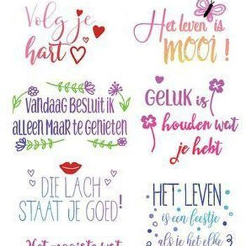 CraftEmotions - Quotes - Volg je hart,...