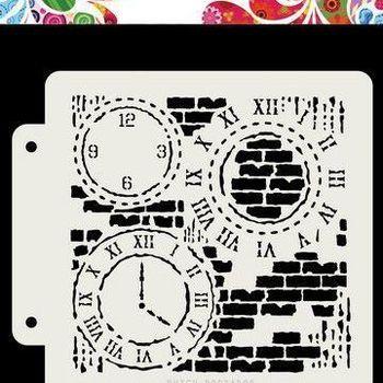 Mask Art - Grunge clock
