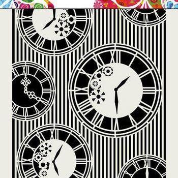 Mask Art - Clocks & stripes