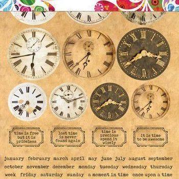 DDBD Sticker Art - Clocks
