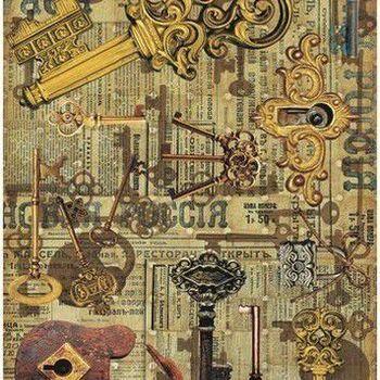 Cadence - Rijstpapier - Vintage sleutels