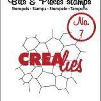Crealies Clearstamp Bits & Pieces (07) - Thin mosaic