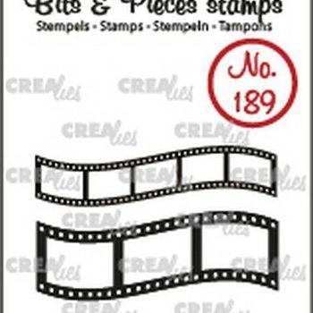 Crealies Clearstamp Bits & Pieces (189) - Gebogen filmstrip