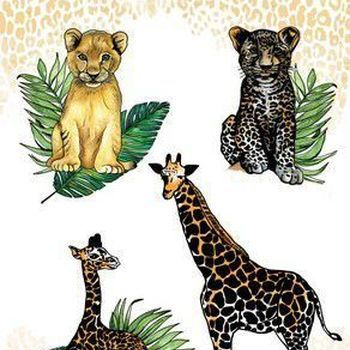 CraftEmotions - Giraf met jong, welpjes
