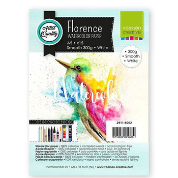 Aquarelpapier Florence - Smooth white A5 (300)