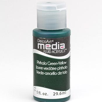 Mixed Media Acryl - Phthalo Green/Yellow (25)