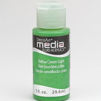 Mixed Media Acryl - Yellow Green Light (46)